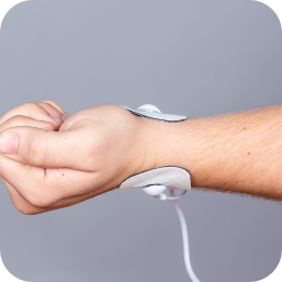 Pain free PAT Electrodes on wrist treating pain